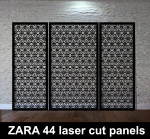 ZARA 44 laser cut metal screens for modern home interiors