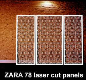 ZARA 78 laser cut metal screens for modern home interiors
