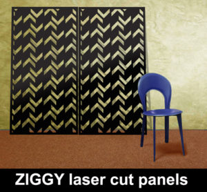 ZIGGY laser cut screens and wall panels for commercial interiors