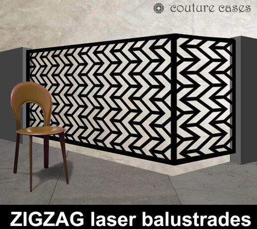 ZIGZAG laser cut metal balustrades and fretwork screens
