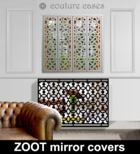Mirror radiator covers
