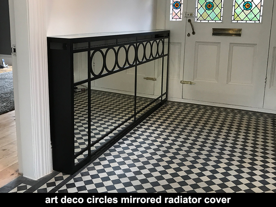 art deco radiator cover and console tables