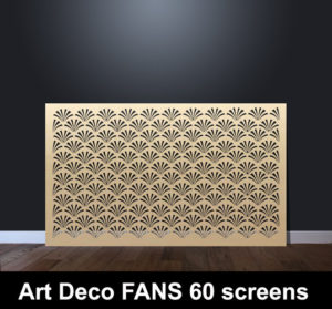 Art DECO FANS laser cut screens and decorative panels