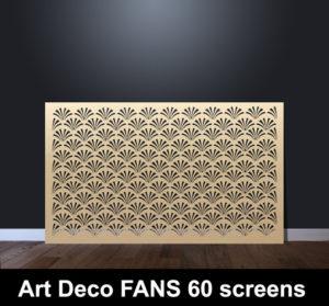 Art DECO FANS laser cut screens and decorative panels