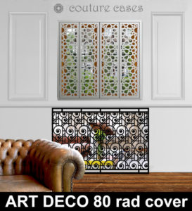Deco swirls laser cut radiator cover