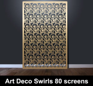 art deco swirls 80 laser cut panels
