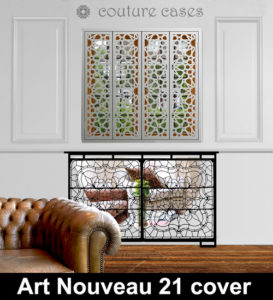 art nouveau mirrored radiator covers