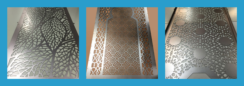 bespoke laser cut metal panels