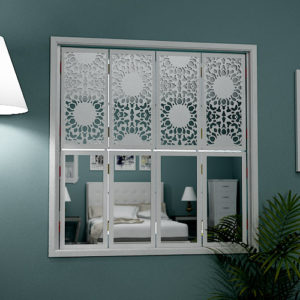 mirror window shutters in arabic design