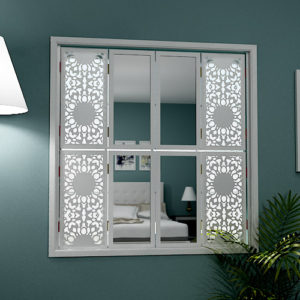 mirror window shutters in stylish design