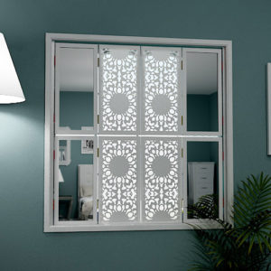 mirror window shutters in modern design