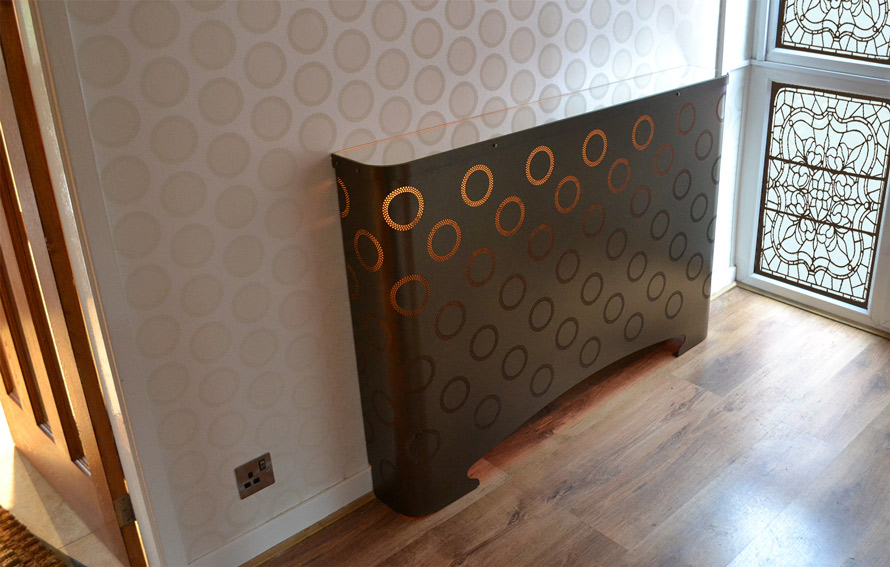fake eyelets radiator covers bronze colour with LED lighting