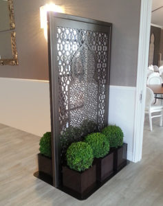 freestanding laser cut metal fretwork panels