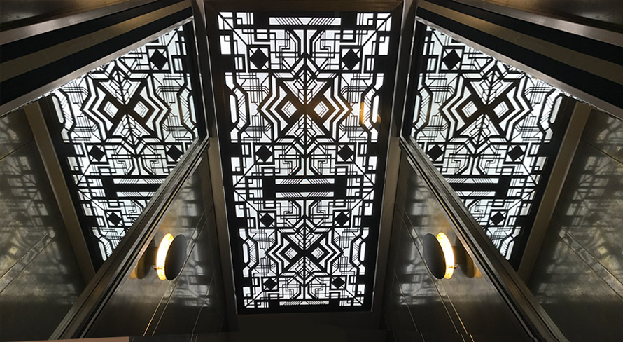 Laser cut metal and MDF fretwork panels and screens