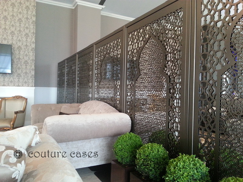 laser cut metal freestanding partitions