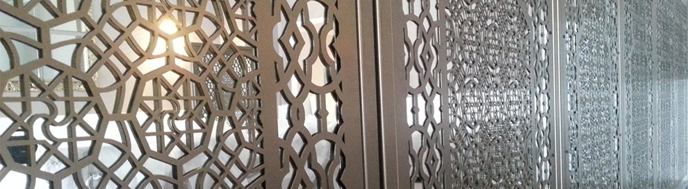 laser cut metal screens and decorative architectural panels