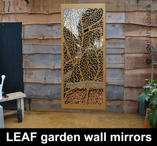 Decorative garden wall panels with mirrors | Custom Designs