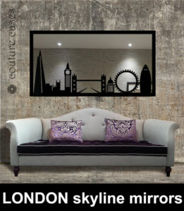 London skyline custom made mirrors