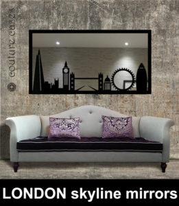 London skyline custom made mirrors