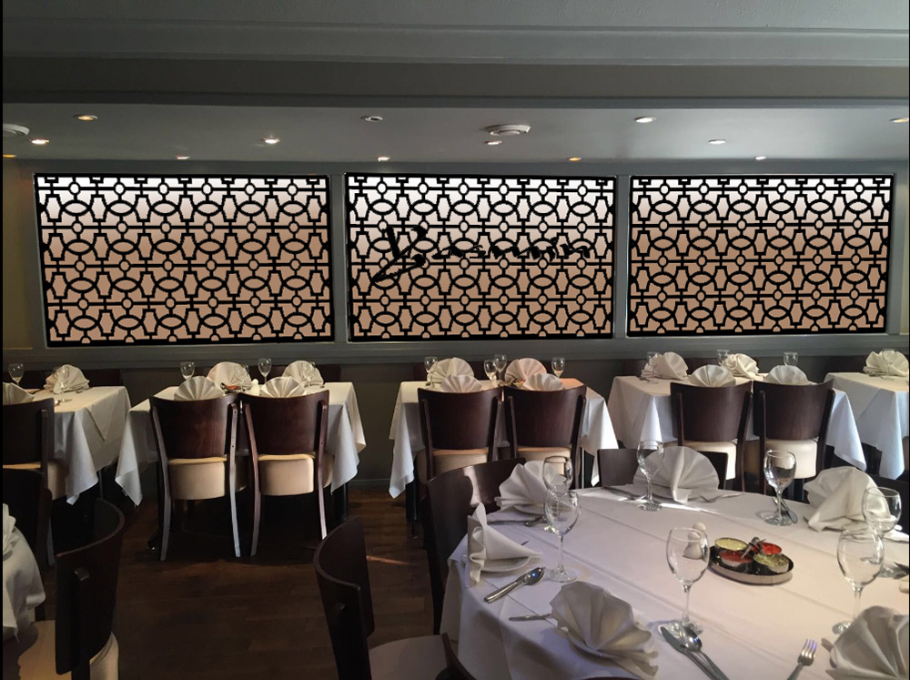 Custom made Fretwork screens in RAVE design