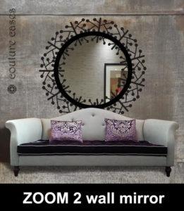 ZOOM 2 circular hallway mirror