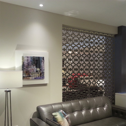 Decorative room screens and fretwork architectural panels
