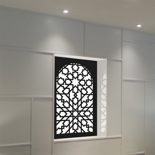 Moroccan themed illuminated wall panel