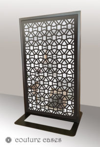 CLOUT freestanding laser cut mirror screens and room dividers