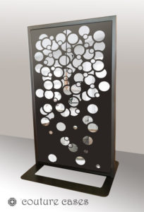 SIRO freestanding laser cut mirror panels and room dividers