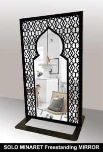 SOLO MINARET freestanding mirror in arabic style