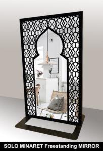 SOLO MINARET freestanding mirror in arabic style