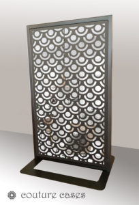 SPRITE freestanding laser cut mirror screen