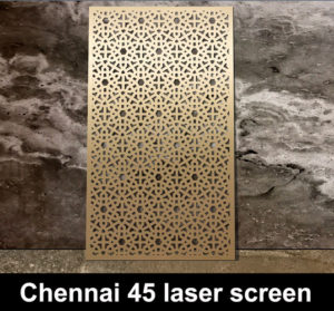 Chennai 45 laser cut metal screens