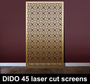 DIDO 45 laser cut metal arabic screens