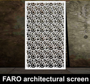 FARO laser cut metal screens and architectural panels