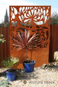 HYDRA Corten garden screens for modern gardens