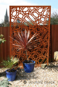 MAINE pattern corten metal garden panels