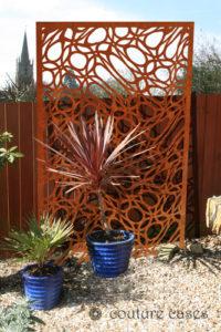 MAINE pattern corten metal garden panels