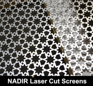 NADIR Laser cut metal screens in fine mesh perforated patternz