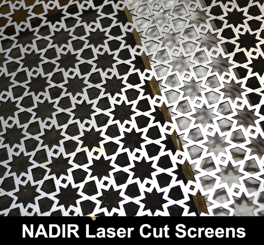 Nadir Laser Cut Metal Screens In Fine Mesh Perforated