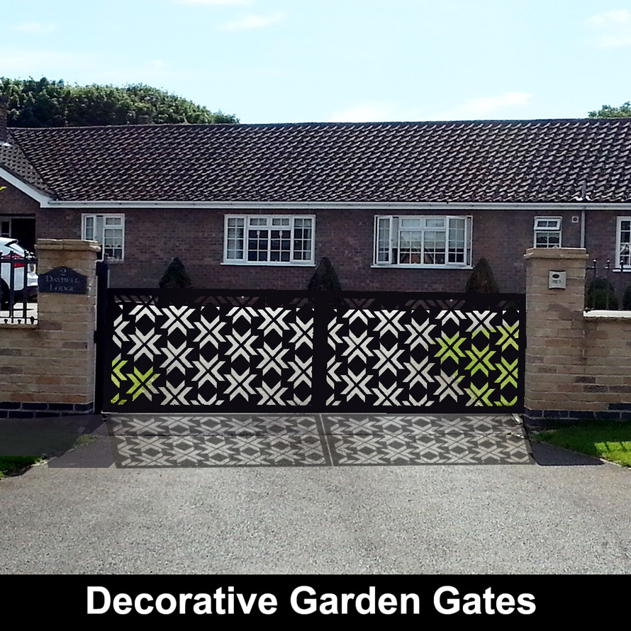 Custom made garden gates in laser cut metal