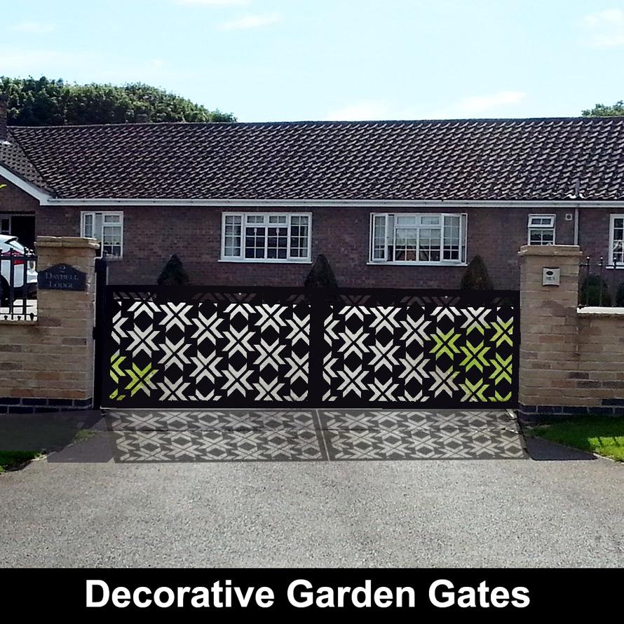Custom made garden gates in laser cut metal