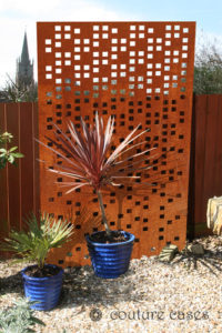 RADIO CRUSH corten garden screens and wall panels