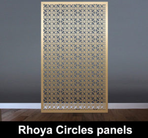 RHOYA Circles laser cut screens