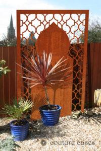 Moroccan style corten garden screens