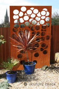 SARIS CRUSH corten garden screens and wall panels