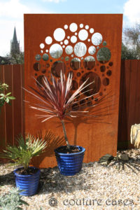 SIREN CIRCLES laser cut metal garden wall panels