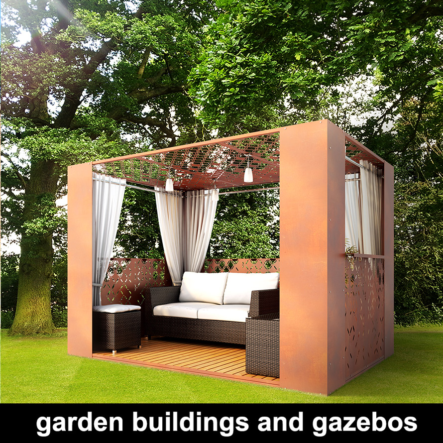 modern garden gazebs and modular buildings