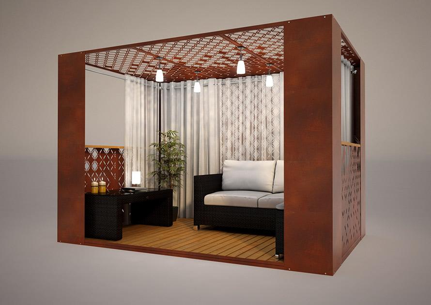 Modern gazebo designs for modern gardens and roof terraces