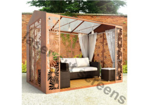 Fretwork gazebo 3m x 2m fretwork pattern